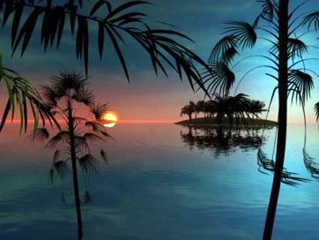 3D Animated Tropical Dawn Screensaver