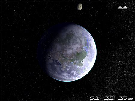Planet Earth 3D Screensaver