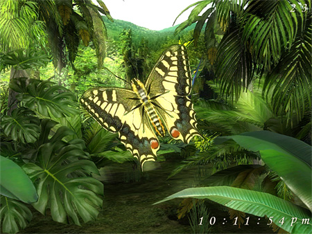 Forest Butterfly 3D Screensaver