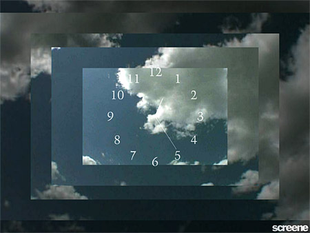 Clouds Clock Screensaver