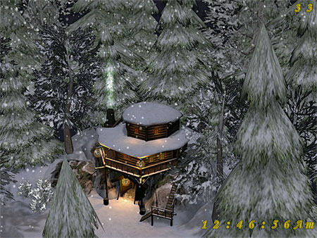 Winter Gold Mine 3D Screensaver