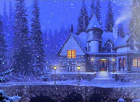 3D Snowy Cottage Screensaver