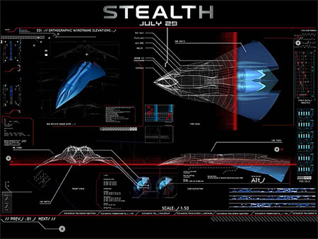 Stealth Movie EDI Airplane Screen saver