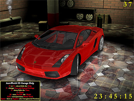AutoWorld 3D Garage Screensaver